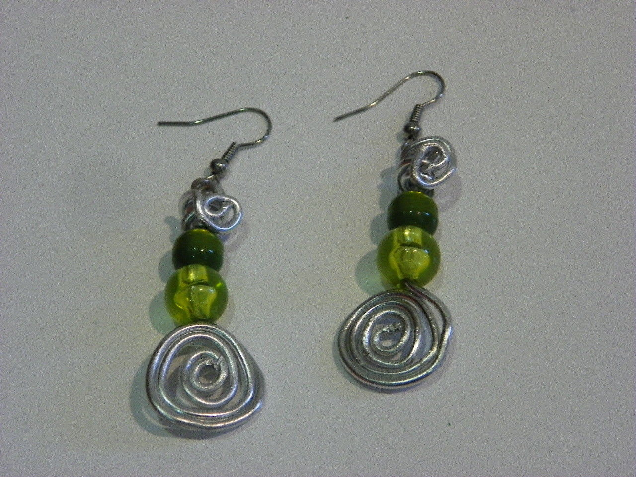 54b8fa5a8d3 Fine earrings green elegant 100% handmade by Cecile French design woman  girl jewelry